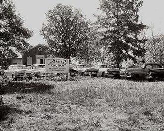 Unitarian Universalist Church of Arlington - UUCA's original building in 1957.