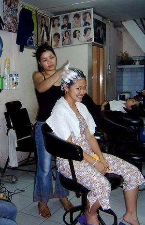 Hair washing - Upright style