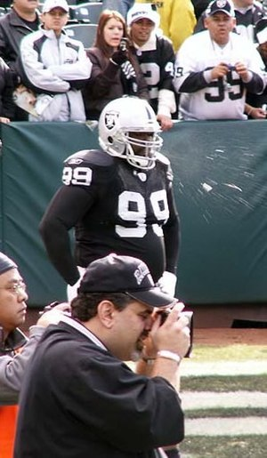 Warren Sapp - Sapp during his time with the Raiders.