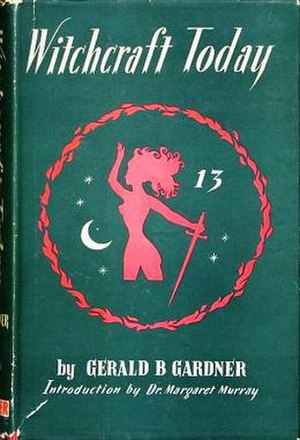 The first edition cover of Witchcraft Today, w...