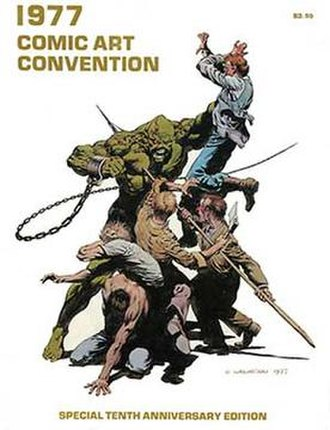 Comic Art Convention - Program book featuring Swamp Thing  art by Berni Wrightson (as he then spelled his first name).
