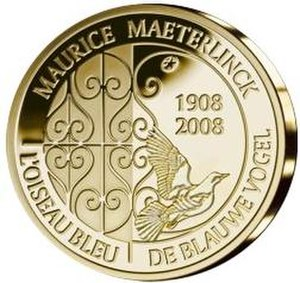 The Blue Bird (play) - Maurice Maeterlinck commemorative coin