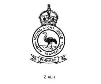 2nd Light Horse Regiment (Australia) - 2nd Light Horse hat badge