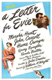 Image result for a letter for evie 1946