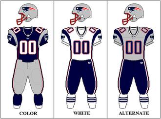 2003 New England Patriots season - Image: AFCE 2003 2006 Uniform NE