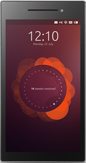 Ubuntu Edge - Preview of Ubuntu Touch on a Ubuntu Edge (render)