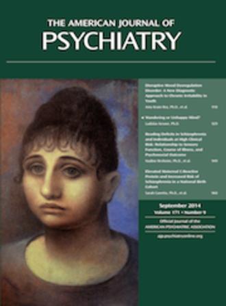 American Journal of Psychiatry - Image: American J Psychiatry 2014 9 cover