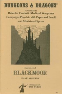 Book cover, Blackmoor by Dave Arneson, (TSR Inc.