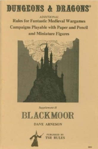 Blackmoor (supplement) - Image: Arneson Blackmoor Supplement II Cover