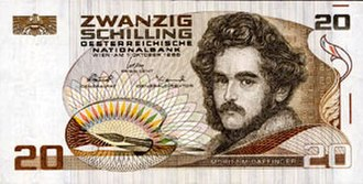 Austrian schilling - Image: Austrian 20 Schilling note, circa 1988