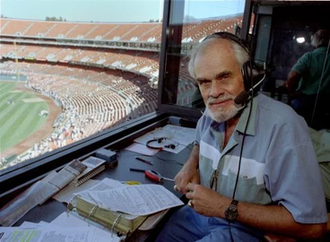 Bill King - King in 1994 prior to a game at Oakland–Alameda County Coliseum.