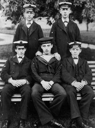 Royal Hospital School - Boys of The Royal Hospital School, Greenwich c.1900