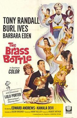 The Brass Bottle (1964 film) - Theatrical release poster