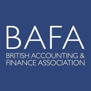British Accounting & Finance Association - Image: British Accounting & Finance Association logo