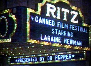 Canned Film Festival - A screenshot of the fictional Ritz theater used as a commercial bumper for selected commercial breaks.