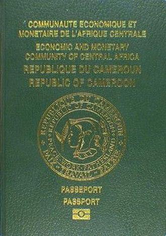 Cameroonian passport - Cameroonian biometric passport front cover