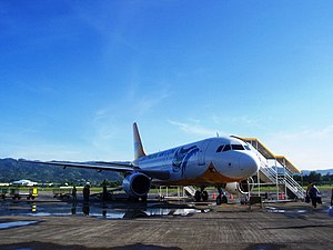 A Cebu Pacific Plane on the Tarmac of Zamboang...