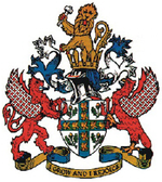 Oficiala emblemo de Urbeto de Crawley