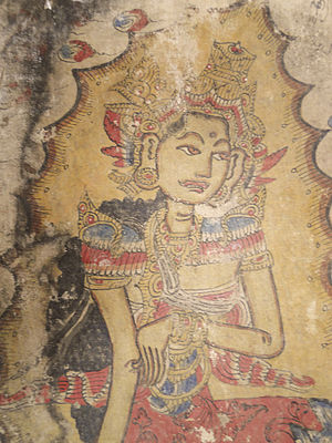Balinese art - Pre-1920 Kamasan Palindon Painting detail - courtesy The Wovensouls Collection, Singapore