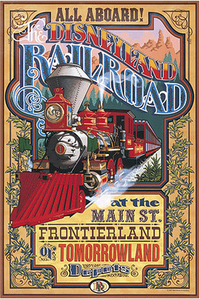 Image result for disneyland railroad