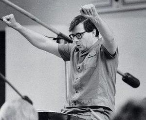 Edward Downes in the recording studio, 1971.
