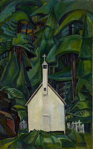 Emily Carr, The Indian Church, 1929. Lawren Harris bought the painting and showcased it in his home. He considered it Carr's best work.
