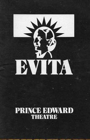 Evita (musical) - Programme from the original West End Production at the Prince Edward Theatre