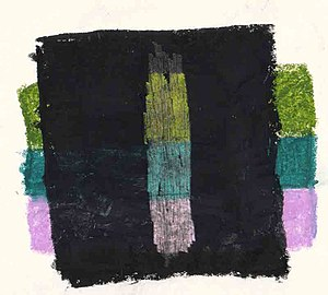 Oil pastel - An example of the scraping down technique.