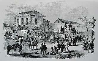 Colony of Natal - First public auction of Natal sugar, Durban, 1855