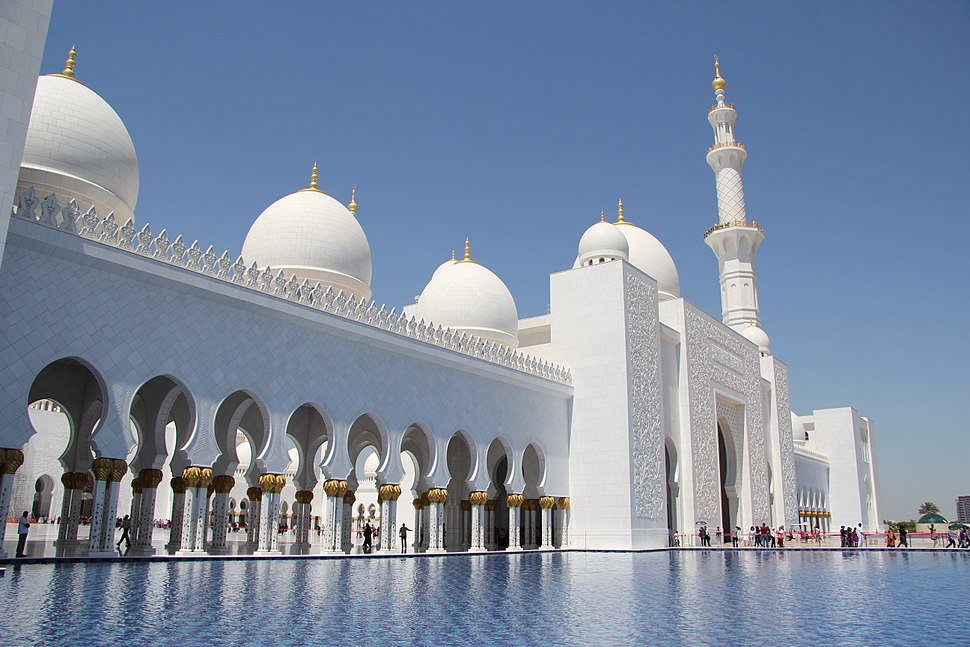 Front of Sheikh Zayed Mosque