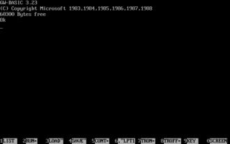 GW-BASIC - Image: GW BASIC 3.23
