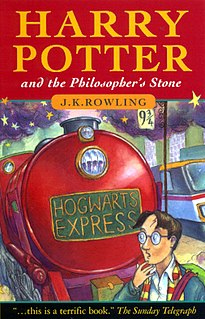 <i>Harry Potter and the Philosophers Stone</i> 1997 fantasy novel by J. K. Rowling