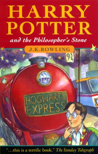 Harry Potter and the Philosopher's Stone - Cover for one of the earliest UK editions