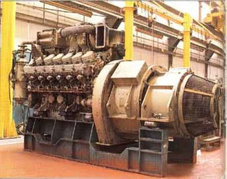 Paxman Valenta - Paxman Valenta power unit with turbocharger and Brush Traction alternator fitted