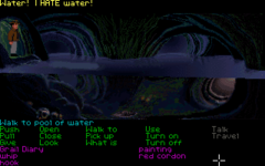 A screenshot from the video game Indiana Jones and the Last Crusade: The Graphic Adventure.
