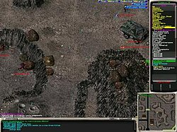 Screenshot (from Mechanized Skirmish) of Infantry Online.