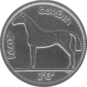 Half crown (Irish coin) - Image: Irish half crown coin
