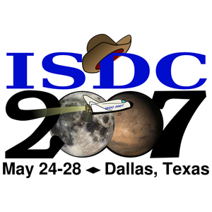 "International Space Development Conference - Official ISDC 2007 logo ""From Old Frontiers to New"""