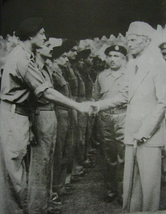 Frontier Force Regiment - Muhammad Ali Jinnah, the founder of Pakistan, meeting with officers of 6th Bn, Frontier Force Rifles (Now 1st FF).