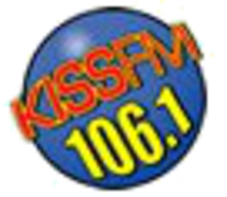 KHKS - 2003-2007 variant of the 106.1 Kiss FM logo.