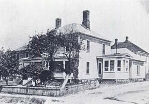 Lincoln Community Health Center - The original Lincoln Hospital, at the northwest corner of Proctor and Cozart streets, circa 1901