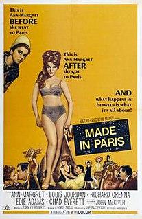 <i>Made in Paris</i> 1966 film by Boris Sagal