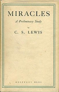 <i>Miracles</i> (book) book written by C. S. Lewis