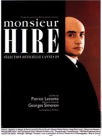 Monsieur Hire - Theatrical release poster