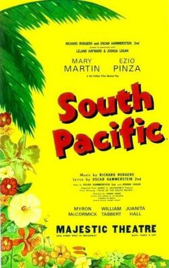 South Pacific (musical) - Original Broadway poster (1949)