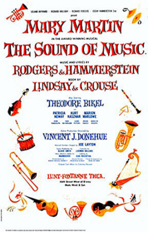 The Sound of Music - Image: Musical 1959 Sound Of Music Original Poster
