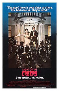 <i>Night of the Creeps</i> 1986 American comedy horror film directed by Fred Dekker