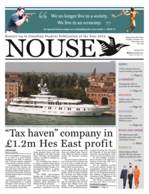 Nouse - Typical Nouse front page