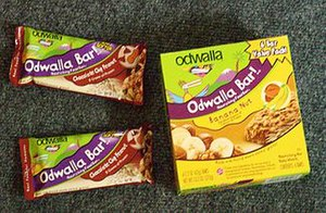 Odwalla - A box of Banana Nut bars and two Chocolate Chip Protein bars