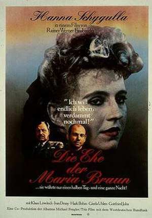 The Marriage of Maria Braun - Theatrical poster